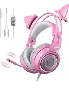 SOMIC G951s Pink Stereo Gaming Headset with Mic for PS4, Xbox One, PC, Mobile...