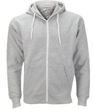 Mens Boys American Hoodie Sweatshirt Plain Hooded Fleece Zip up Jacket XS - 5xl XL Grey