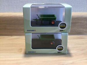 2 Farm trailers - Oxford diecast
