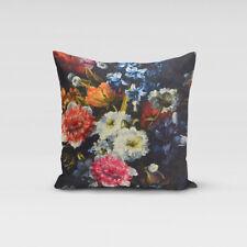 SCHÖNER LEBEN. Kissenhülle Blumen Digitaldruck 50x50cm