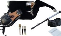 Uilleann Pipes Practice Set Blackwood Bagpipes By Hakam Din & Sons