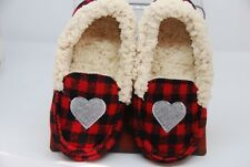 Girls Dearfoam Slippers Christmas Plaid