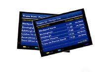2x OO HO Gauge Model Railway Large Arrival Departure Display Screens