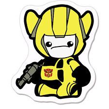 "Transformer Yellow car bumper sticker decal 5"" x 4"""
