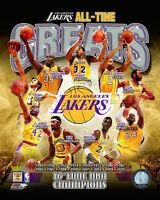 LA Lakers Greats Magic Johnson Kobe Bryant Wilt Chamberlain J. West  8x10 Photo