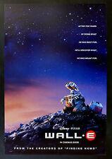 WALL E * CineMasterpieces 1SH ORIGINAL MOVIE POSTER 2008 DISNEY PIXAR WALLE