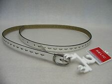 """RELIC - WHITE STICHED - LARGE SIZE - SKINNY 1/2"""" BELT!"""