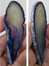 #33 74mm Natural Brazilian Purple Geode Agate Crystal Slice Specimen 2 15/16 in