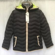 MENS BOYS BLACK LIGHTWEIGHT DOWN FILLED PADDED PUFFER BUBBLE JACKET COAT - SMALL