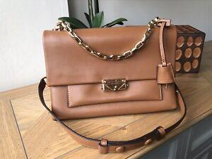 Michael Kors CECE medium tan genuine leather handbag shoulder bag