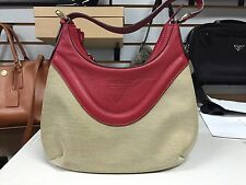 Gucci Beige Canvas and Red Leather Hysteria Crest Small Hobo Shoulder Bag 262902