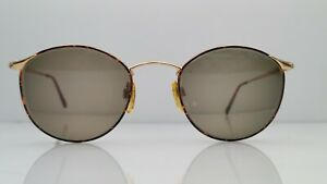 Vintage Giorgio Armani 132 759 Tortoise Gold Oval Italy Sunglasses FRAMES ONLY
