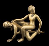 Antica Statuetta Sexy Bronzo Erotica Kamasutra Statuetta Coppia Nudo 4720 D4