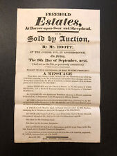 More details for 19th century, 1814, property auction poster, the anchor inn, loughborough [#28]