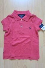 Ralph Lauren Mädchen Polo Shirt Rosa 86 92 2T Neu