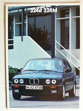 Prospekt BMW 3er E 30 - 324 d, 324 td, 1.1988, 22 Seiten