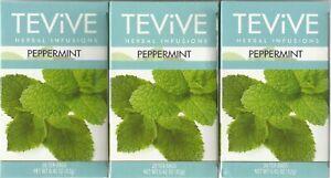 3 Packs Tevive Herbal Infusions Peppermint Tea 20 Tea Bags