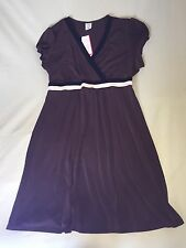 NWT MOTHERHOOD MATERNITY DRESS SZ XL X LARGE BROWN BLACK CREAM