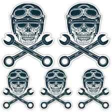 Skull & cross keys game stickers motorcycle helmet cafe racer biker