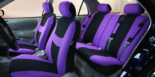 Car Seat Cover for Cars Full Set Purple With 5 Headrest Covers