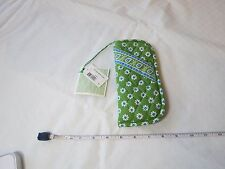 Vera Bradley eye glass case DDL double Apple Green retired NOS 24429 sunglass