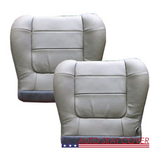 00 -02 FORD F.150 LARIAT 2-4 DOOR Driver Passen. Bottom Leather Seat cover  GRAY