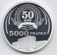 BURUNDI 5000 FRANCS 2014 50th ANNIVERSARY OF THE CENTRAL BANK RARE SILVER PROOF