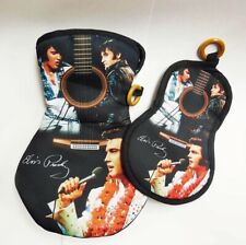 ELVIS GUITAR OVEN MITT AND POT HOLDER COLLECTOR KITCHEN SET