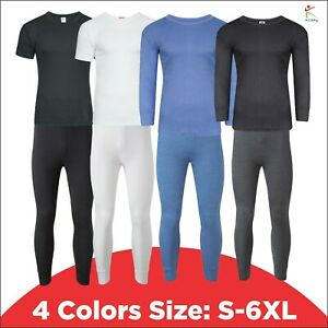 Classic Mens Thermal Underwear Half & Long Sleeve Top & Long John Baselayer SKI