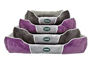 Heritage Plush Fabric Soft Washable Dog Pet Bed Deluxe Warm Basket Cat Cushion