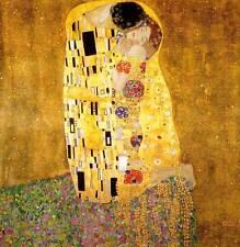 Gustav Klimt - The Kiss (1908) -  Art Nouveau - Fine Art Canvas Print
