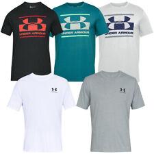 Camiseta para hombre Debajo de armadura Gimnasio Active Wear Algodón Camiseta Top de logotipo de la marca deportiva