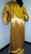 "New listing Vintage: Satin! ""Special� High Gloss Deep Gold Bridal Satin Balloon Shirt Gown"