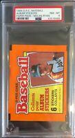 1984 O-Pee-Chee Baseball Album Stickers Paper Pack Sealed Nolan Ryan PSA 8 RARE!