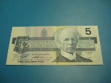 1986 - Canadian five dollar bill - $5 Canada note - ANJ2715191
