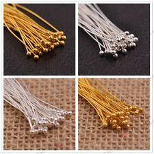 FREE SHIP 100Pcs Silver/Golden Head Eye Ball Style Pin Jewelry Findings 16-70MM