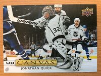 UPPER DECK 2019-2020 SERIES TWO JONATHAN QUICK CANVAS HOCKEY CARD C-190