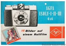 Agfa folleto isoly I & II & III/accesorios cámara folleto (x2175