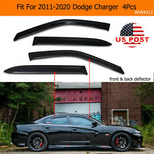 Acrylic Window Visors Sun Rain Guards Vent Shade Fit For 2011-2020 Dodge Charger