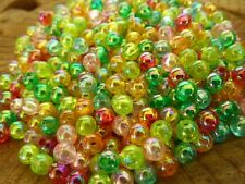 400 pce AB Colour Mix Round Acrylic Spacer Beads 4mm