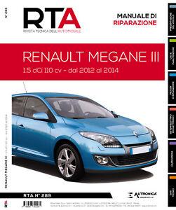 Manuale riparazione auto meccanica+elettronica+carrozzeria - RENAULT MEGANE III