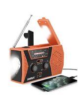 Emergency radio Solar Am Fm Power Bank Noaa Weather Hand Crank Usb Charger