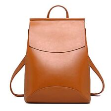 Womens Backpack Purse Vintage Leather Minimalist Design Girl Day Pack