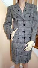 Vintage 1980s VALENTINO BOUTIQUE Black/White Tweed Skirt Jacket Suit Size 8