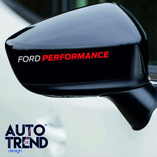 4 x FORD PERFORMANCE RACING LOGO Decal Sticker Badge Detail - Best Quality