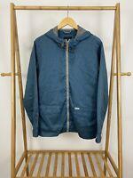 O'neills Men's Waterproof Full Zip Hooded Windbreaker Turquoise Jacket Size S