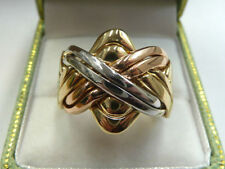 Puzzle Rose Gold Precious Metal Rings without Stones