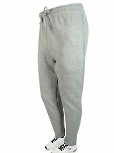 Mens Fleece Sweatpants Skinny Black Blue Gray Charcoal Activewear GYM Work Out