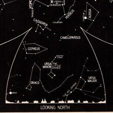 1942 December Sky STAR & CONSTELLATION Map ASTRONOMY Print Astrology Signs 4319
