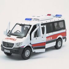 Welly NEW Hong Kong Emergency Unit Police Die cast 1:50 Mercedes Benz Sprinter